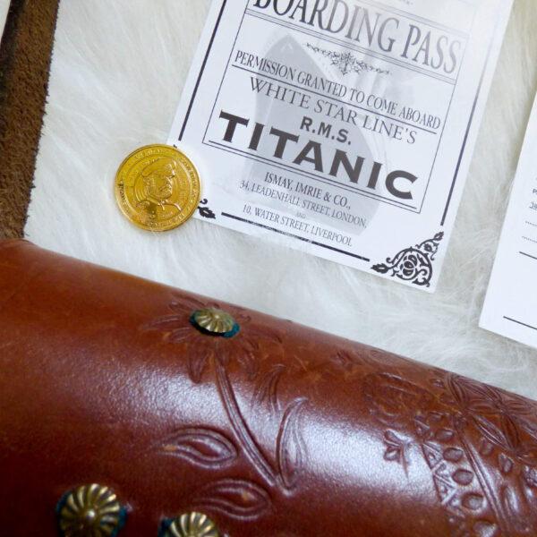 Karta pokładowa z Titanica - wystawa Titanic w Krakowie