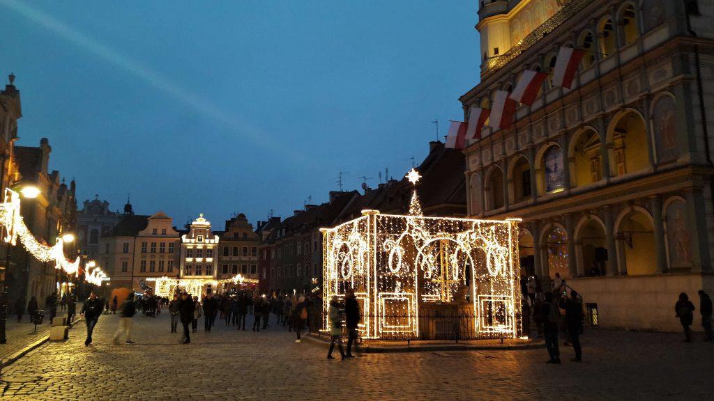 Rynek w Poznaniu w grudniu - rok 2018 w zdjęciach
